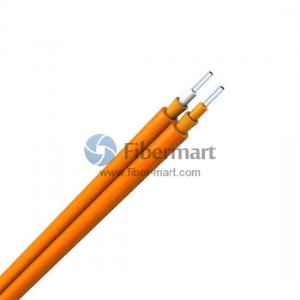 Corning Fiber 50/125μm Multimode Duplex Zipcord Tight Buffer Plenum Indoor Fiber Optic Cable