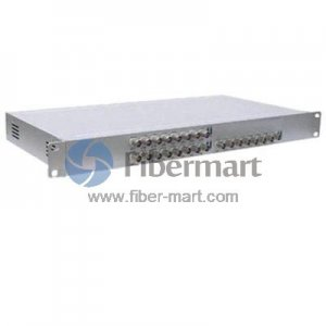 24 Channel Video to Fiber SM 20km Optical Video Multiplexer in Aluminum Alloy Case