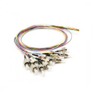 12 Fibers LC/SC/FC/ST/E2000 OM4 Multimode ColorCoded Fiber Optic Pigtail, Unjacketed