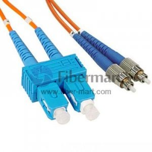FC/UPC-SC/UPC Duplex Multimode 100/140um 3.0mm Fiber Patch Cable