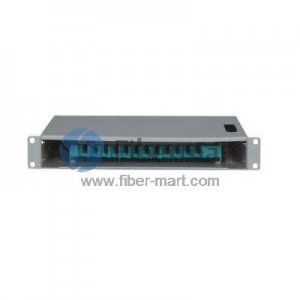 12 Fibers SC 1U Rack Mount Optic Distribution Frame with pigtails and adapters FM-ODF-B-12