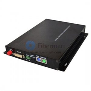 1 Channel DVI over Optical Fiber Transmitter and Receiver Set