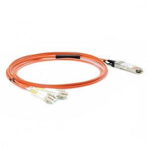 3m(9.64ft) Generic Compatible 40G QSFP+ to 4 Duplex LC Breakout Active Optical Cable