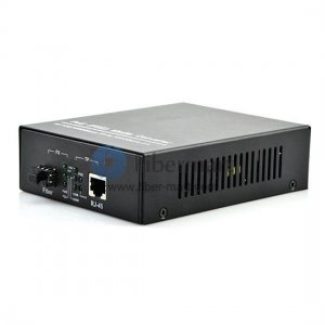 A Pair of 10/100/1000M Single Fiber 1310/1550nm 20km POE Media Converter