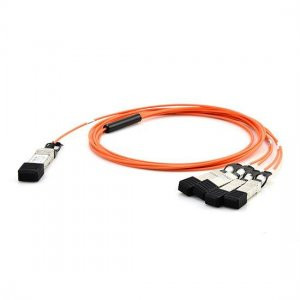 1m(3.3ft) Generic Compatible 40G QSFP+ to 4x10G SFP+ Breakout Active Optical Cable