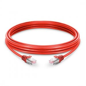 Cat6 Snagless Booted Shielded (STP) Ethernet Network Patch Cable, Red PVC, 10m (32.81ft)