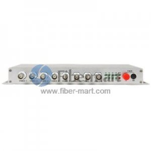 8 Channel Video to Fiber SM 20km Optical Video Multiplexer in Aluminum Alloy Case