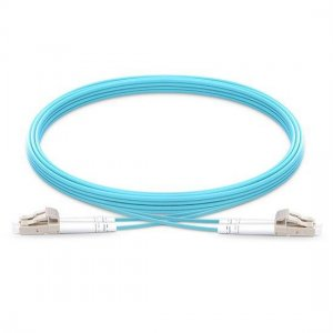 10M LC UPC to LC UPC Duplex 2.0mm PVC(OFNR) 10G OM4 Bend Insensitive Fiber Patch Cable