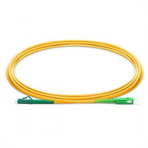 10M LC APC to SC APC Simplex 2.0mm PVC(OFNR) SMF Bend Insensitive Fiber Patch Cable