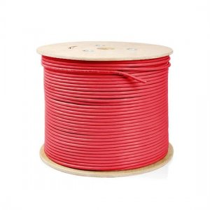 305m (1000ft) Spool Cat6 Unshielded(UTP) Solid PVC Bulk Ethernet CableRed