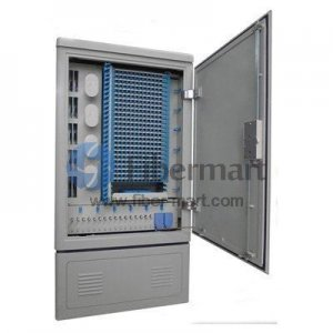 Max. 288 Fiber Fusion Splices SMC Fiber Optic Cross Connection Floor Mount Cabinet