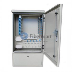 Max. 144 Fiber Fusion Splices SMC Fiber Optic Cross Connection Cabinet Wall Mount