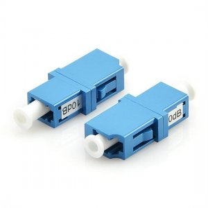 LC/UPC Singlemode Fixed Flanged Fiber Optic Attenuator Female to Female 1~20dB Optional