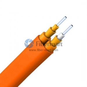 62.5/125μm Multimode Double Jacket Duplex Flat Tight-buffered Riser Indoor Cable