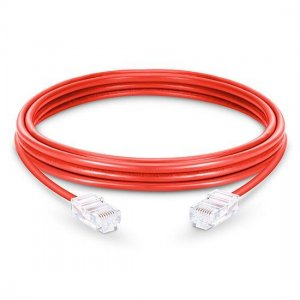 Cat6 Nonbooted Unshielded (UTP) Ethernet Network Patch Cable, Red PVC, 10m (32.81ft)