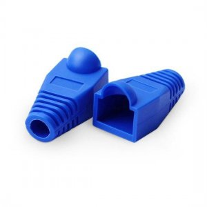 RJ45 Snagless Boot Cover 7.5mm OD Blue, 50/Pack
