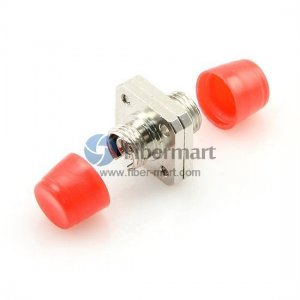 FC/UPC to FC/UPC Simplex Square Two Pieces Type Metal Fiber Adapter
