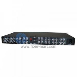 24 Channel Video to Fiber SM 20km Optical Video Multiplexer