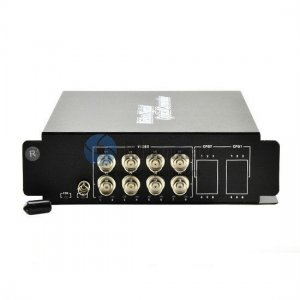 8 Channel Video to Fiber SM 20km Optical Video Multiplexer