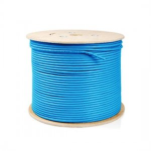 100m (328ft) Spool Cat6 Shielded and Foiled(SFTP) Solid PVC Bulk Ethernet CableBlue