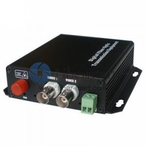 2 Channel Video & 4 Simplex Forward Audio to Fiber SM 20km Optic Video Multiplexer
