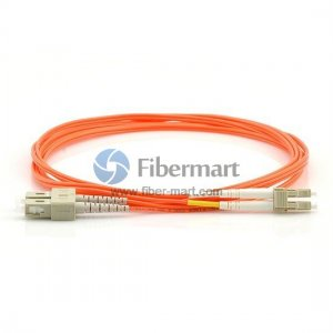 LC-SC Duplex OM2 50/125 Multimode Fiber Patch Cable