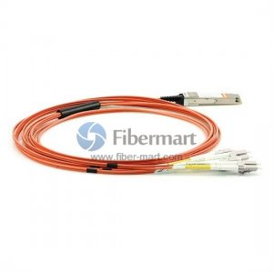 3M(9.8ft) 40GBASE QSFP+ to LC/SC/ST/FC Connector(8) Breakout Active Optical Cable