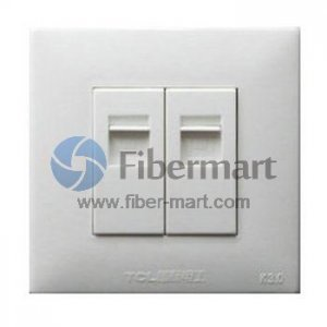 TCL Legrand 2xRJ45 Socket Outlet Wall Face Plate 86 Type K3 Series