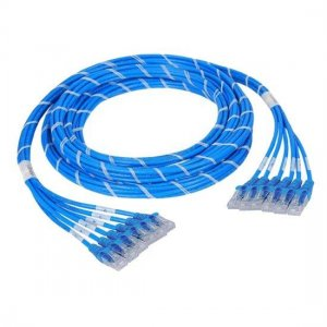 10m (32.8ft) 24 Plug to 24 Plug CAT6 Unshielded LSZH(Blue) PreTerminated Copper Trunk Cable