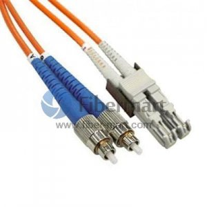 FC-E2000 Duplex OM2 50/125 Multimode Fiber Patch Cable