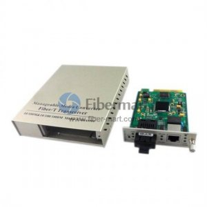 40km 10/100M Dual Fiber 1310nm Centralized Management Standalone Media Converter