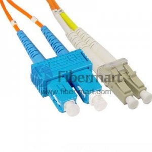 SC/UPC-LC/UPC Duplex Multimode 100/140um 3.0mm Fiber Patch Cable