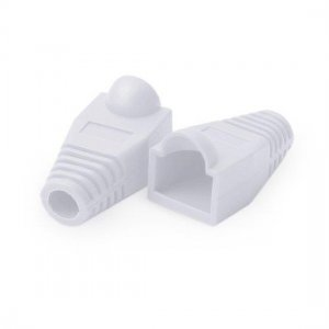 RJ45 Snagless Boot Cover 6.0mm OD White, 50/Pack