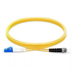 10M LC UPC to ST UPC Duplex 2.0mm LSZH 9/125 Single Mode Fiber Patch Cable