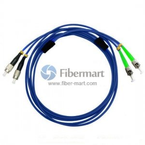 FC/UPC to ST/APC Duplex Singlemode 9/125 Armored Patch Cable