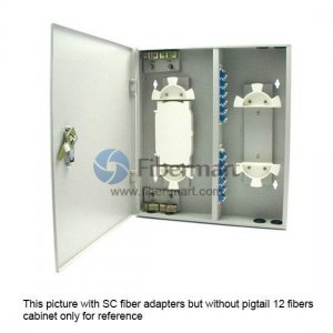 24 Fibers FM(05)A-24 LC Outdoor Wall Mountable Fiber Terminal Box as Distribution Box with Pigtails and Adapters