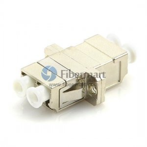 LC/UPC to LC/UPC Duplex SC Type Flange Metal Fiber Adapter