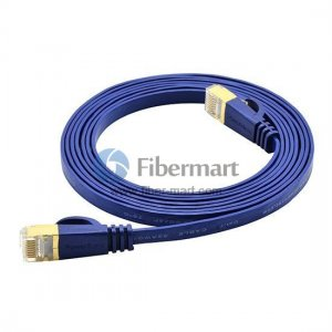 Category 7 Cat7 Network Patch Cable Flat 3m Blue