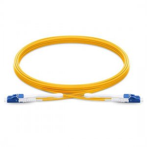 2M LC UPC to LC UPC Duplex 2.0mm PVC(OFNR) 9/125 Single Mode HD Fiber Patch Cable