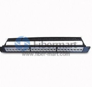 24 Port CAT5e Fully shielded FTP Patch Panel