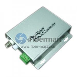 1 Channel Video & 1 Reverse Data to Fiber SM 20km Optical Video Multiplexer in Aluminum Alloy Case