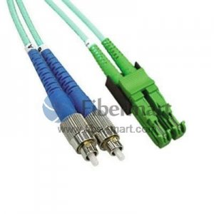 FC-E2000 Plenum(OFNP) Duplex 10G OM4 50/125 Multimode Fiber Patch Cable