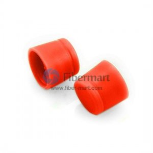 Rubber Dust Cap Covers FC adapter,Red Color,100 pcs/pack