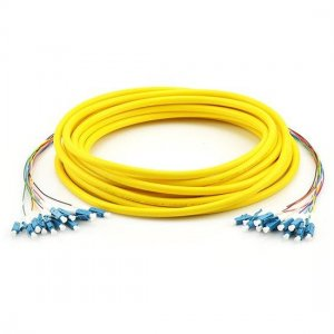 1.5M LC UPC to LC UPC 9/125 Singlemode 12 Fiber MultiFiber PreTerminated Cable 0.9mm PVC Jacket