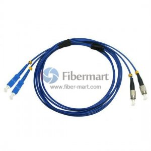 FC/UPC to SC/UPC Duplex Singlemode 9/125 Armored Patch Cable