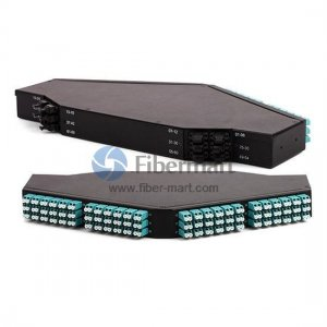 144 Ports 10G OM3 12-fibers MPO/MTP Ultra High Density 1U Rack