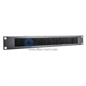 1U Metal Horizontal Cable Management Panel with Brush