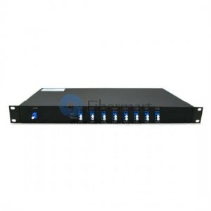 8 channels, Type A, 1RU Rack Mount, Simplex BIDI, DWDM Mux & Demux