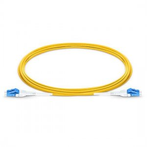 10M LC UPC to LC UPC Duplex 3.0mm LSZH Jacket SMF Uniboot Fiber Patch Cable