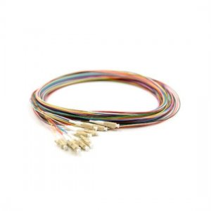 12 Fibers LC/SC/FC/ST/E2000 OM1/OM2 Multimode ColorCoded Fiber Optic Pigtail, Unjacketed